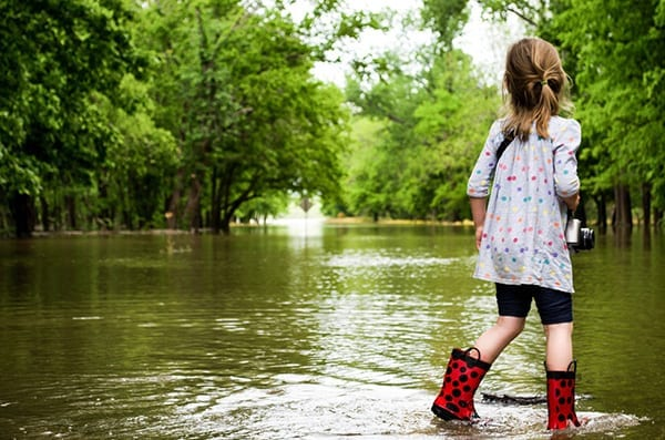Girl in flood, Emergency Management