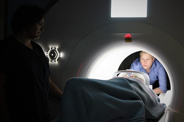 Patient in MRI machine