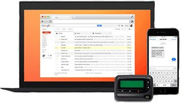 email sms pager