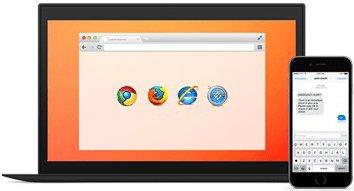 sms text browser integration portal